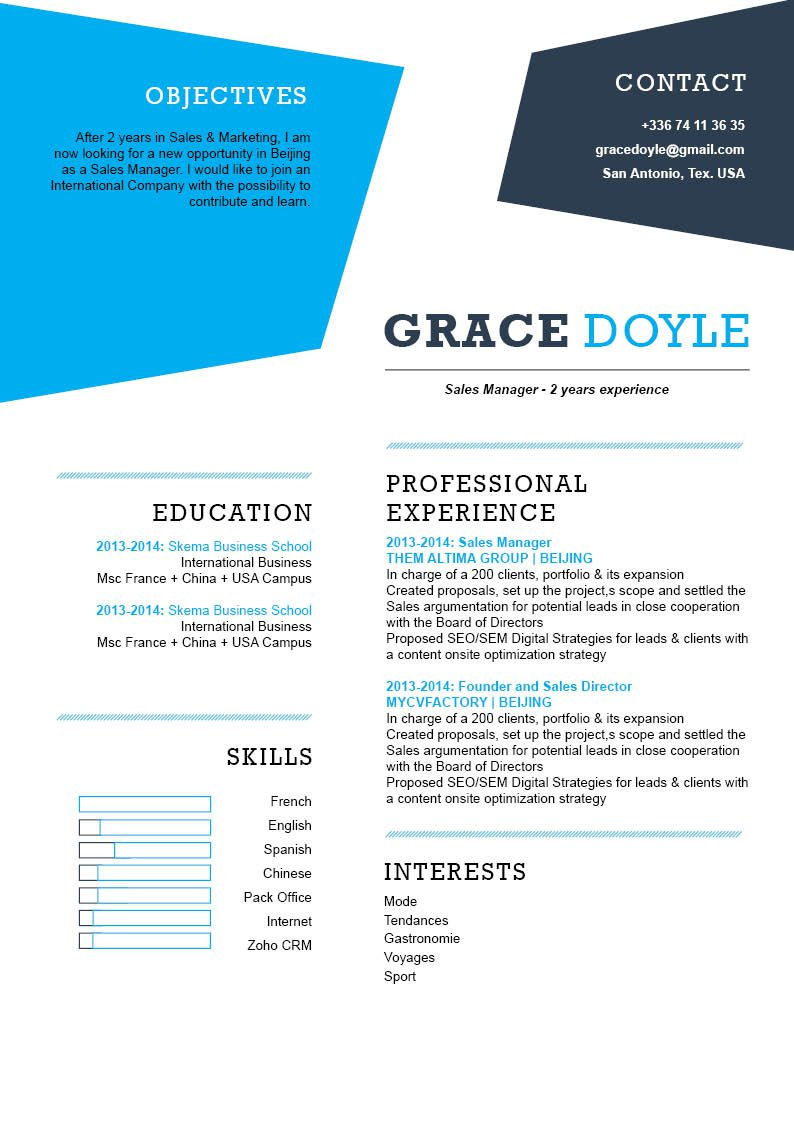 Get hired fast with this professional Simple CV template