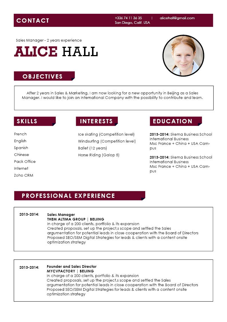 This is one Simple resume template with an excellent cv format for all sectors