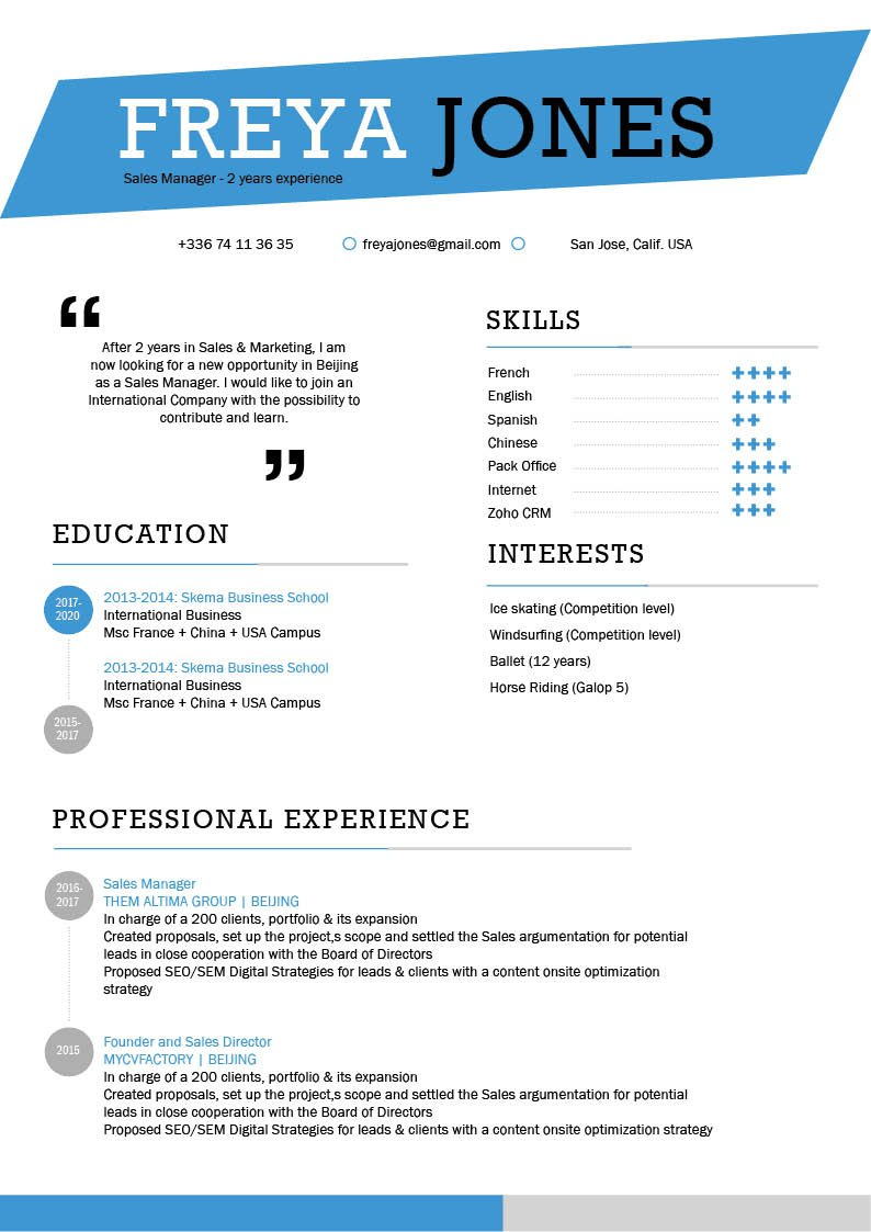 No need to struggle in creating a great resume, this Simple CV template is all you need and more