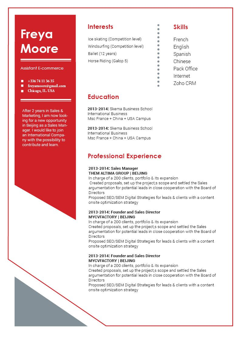 The format is specifically designed for the modern job seeker, what more could you want from a CV template?