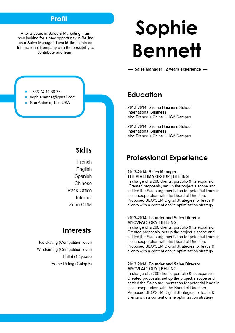 Good resume with a good cv format for all job types