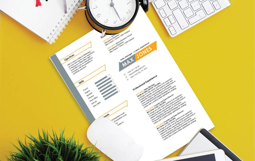 Excellent graphics and colors make this modern resume template a sure choice!