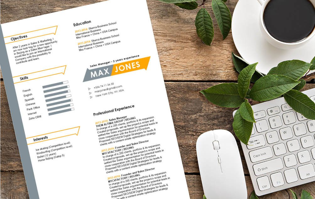 This modern resume template will paint a professional picture