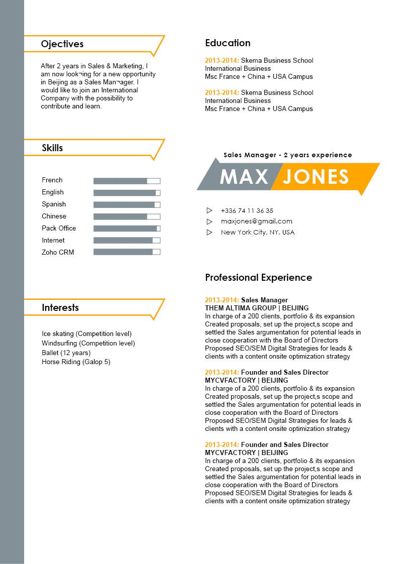 All you need to land that dream job is this modern resume template
