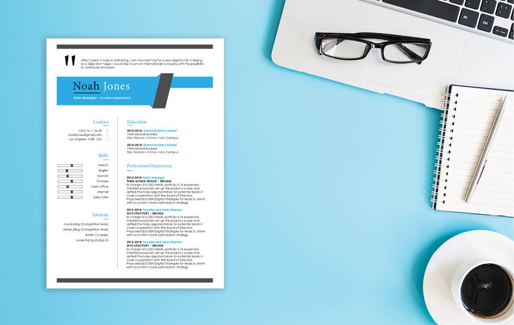 A modern resume template that all job seekers need