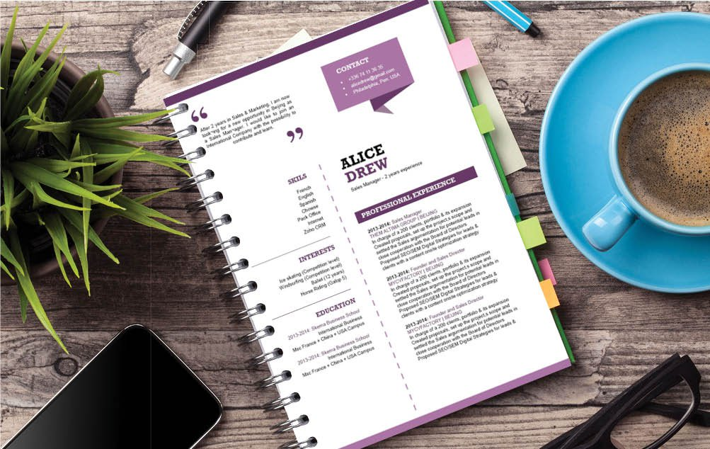 Very well-written format complete with great colors and texts for an easy resume template