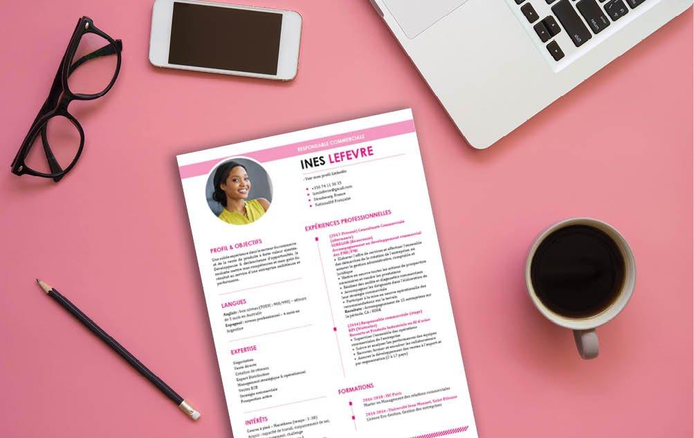 Un CV qui se veut lisible et clair, tout étant coloré