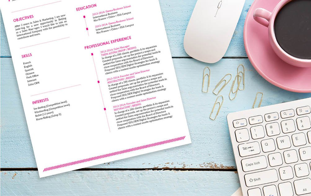 Clear and comprehensive, all the traits needed for an easy resume template is here
