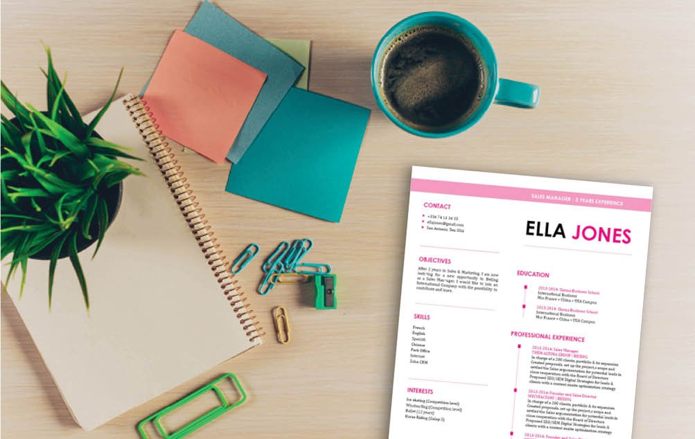A perfect color sceme for the perfect easy resume template