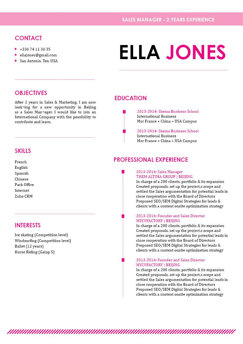 Get hired fast with this easy resume template!
