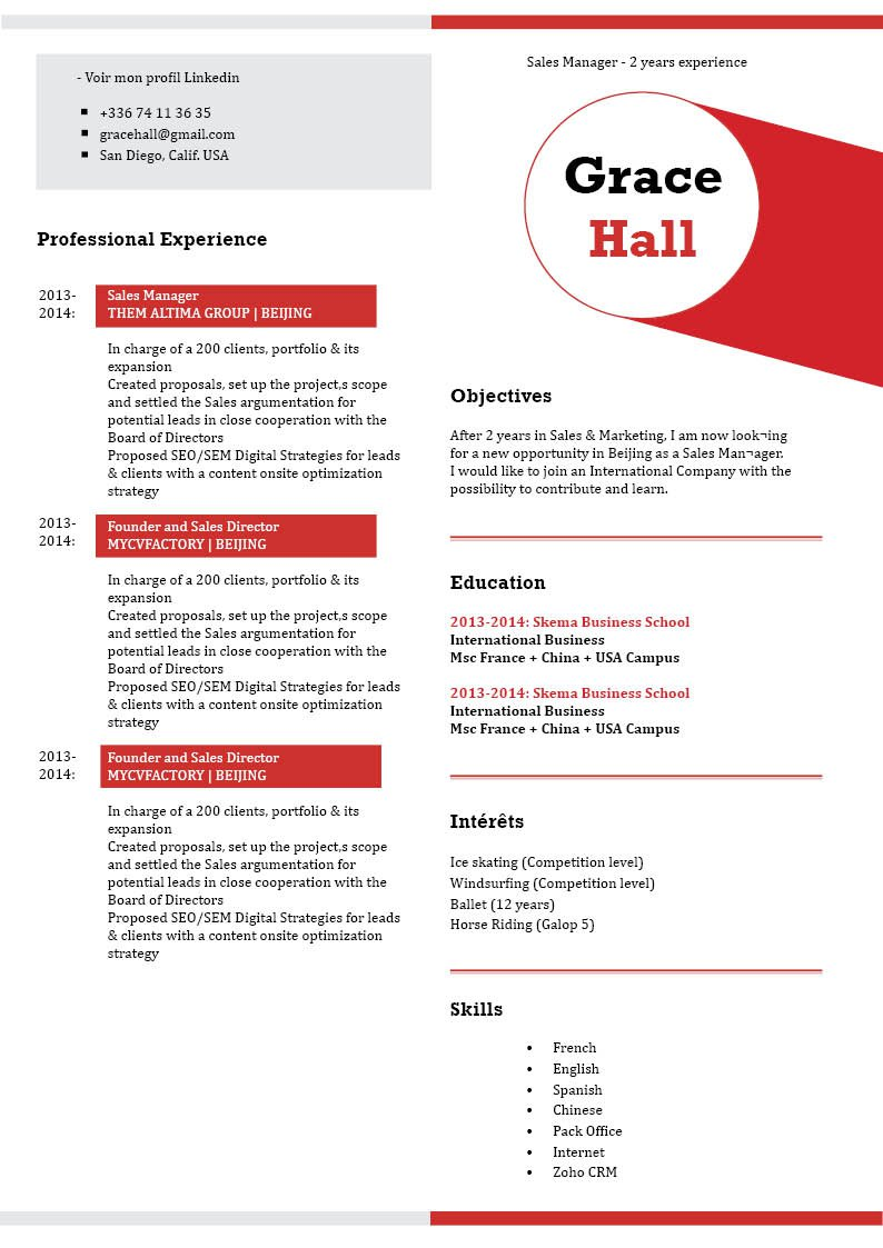 An easy resume template with a clean and comprehensive format sure to get you hired