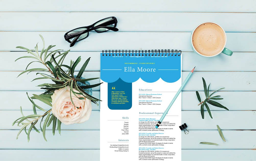 A functional resume template made to perfection -- there is nothing you need more!