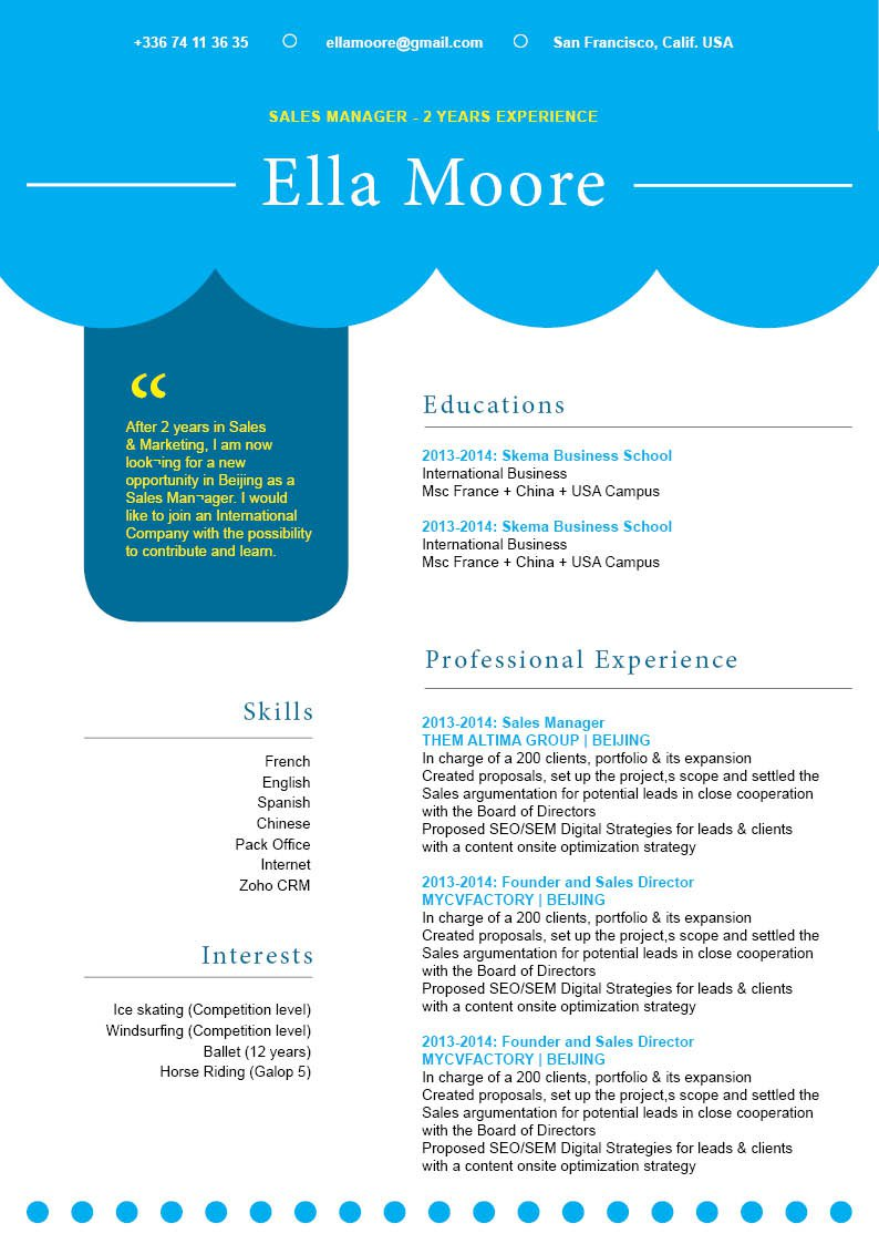 Create the perfect resume with this functional resume template