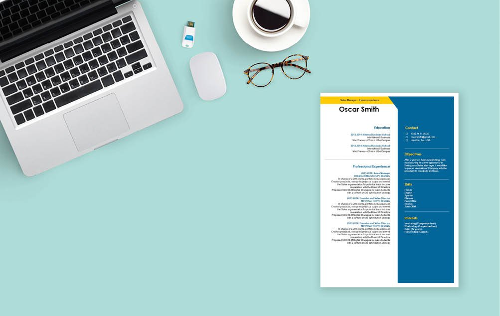 This CV template is your professional stepping stone into a great resume
