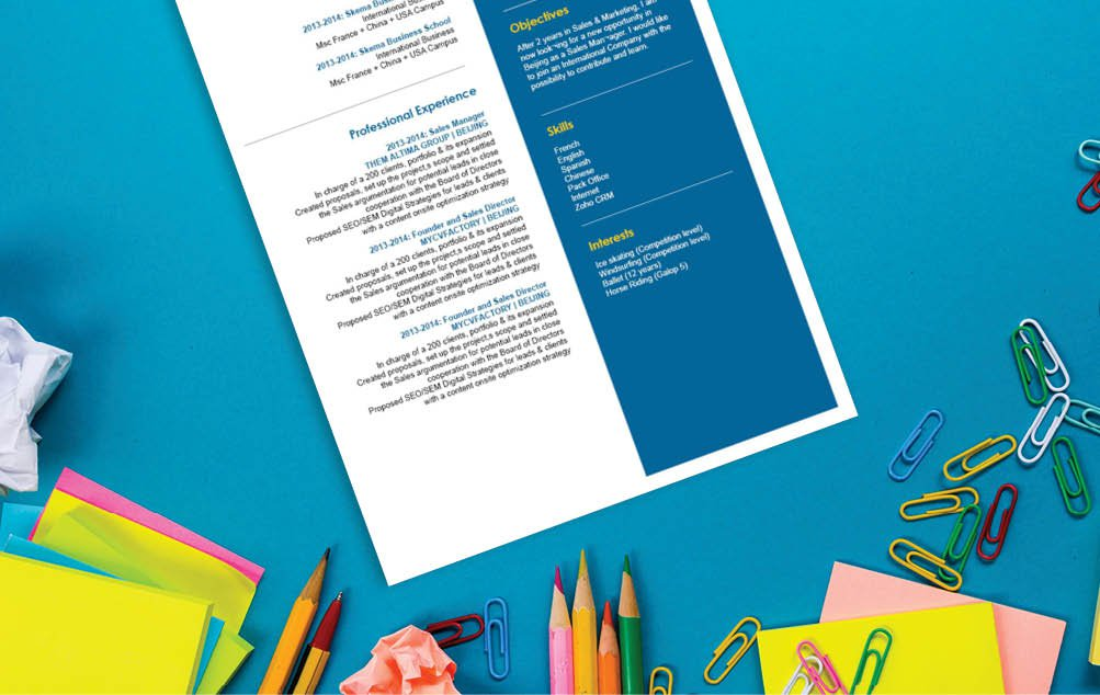 A great CV template with an equally great design