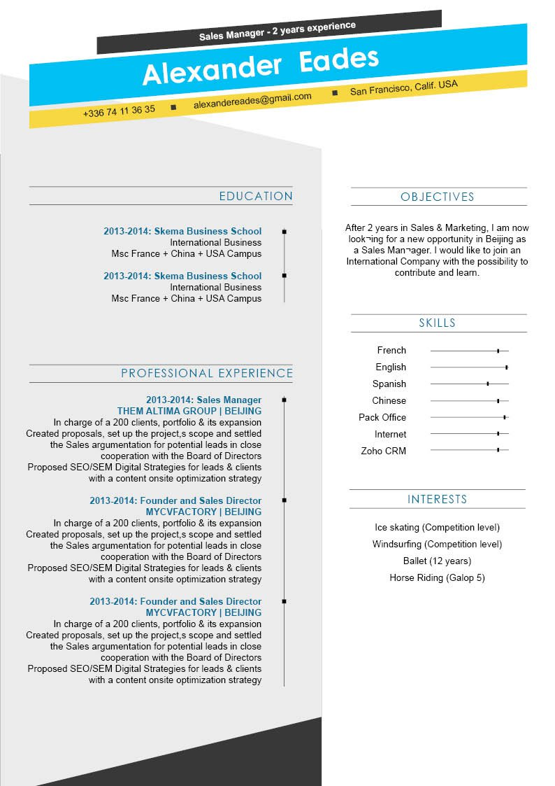 A modern resume template with a professional format for all job types