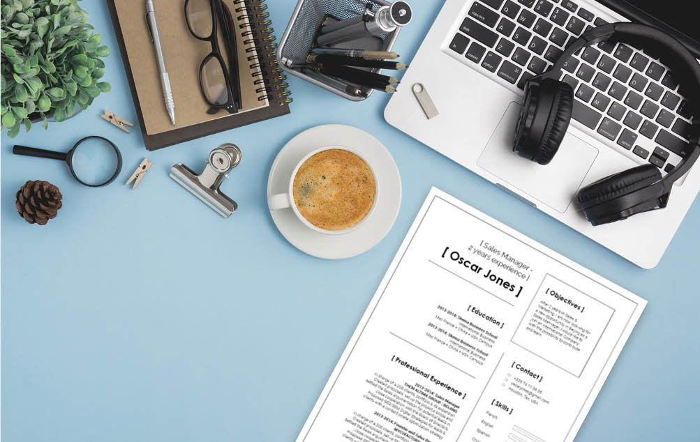 Created to perfection, this modern CV template paints the perfect professional profile