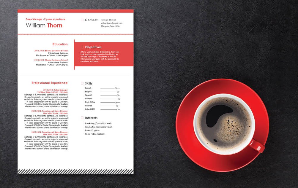 A CV template with a perfect balance of design and functionality