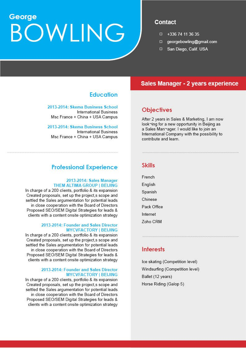 The clean format makes this professional resume template a great fit!