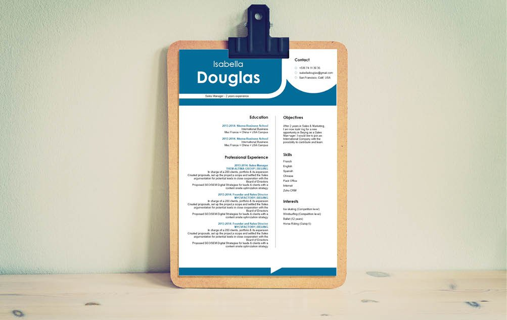 One of the best professional resume templates online -- clear and concise with no added fus!