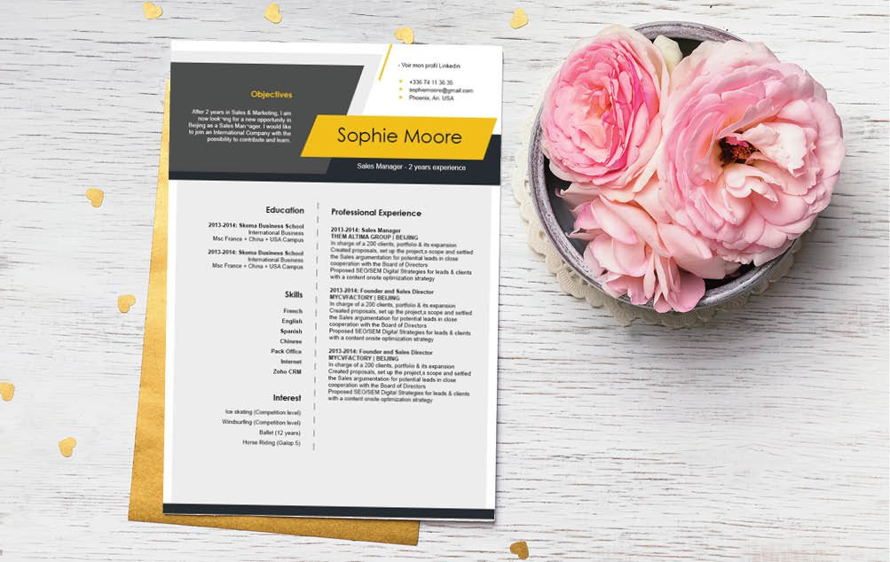 This functional resume template will have you creative the perfect profile CV