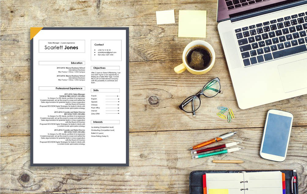 All you need is a professional resume template with a dash of creativity to grab the attention of your recruiters!