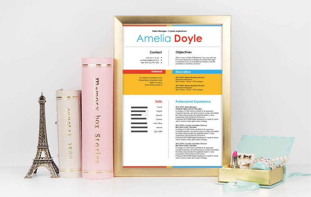 Find yourself flooded with job offers with this simple resume template's simple resume lay out