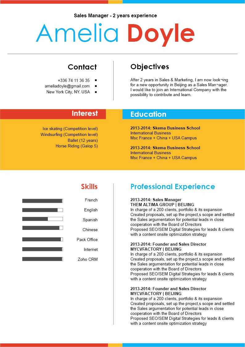 This simple resume template is sure to bring out the best professional in you!