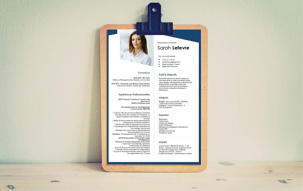 L'élégance à l'honneur pour ce CV, qui évite tout excès et choisi un style simple.