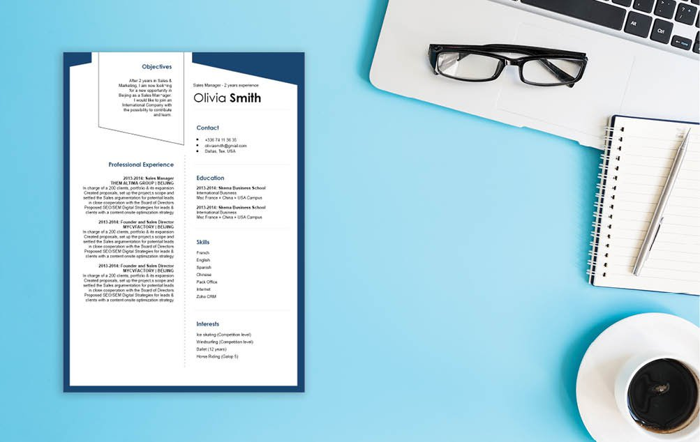 A modern CV with a great sense of creativity and style!