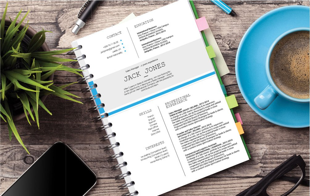 Colors and style make this modern resume template an ideal choice for an educator