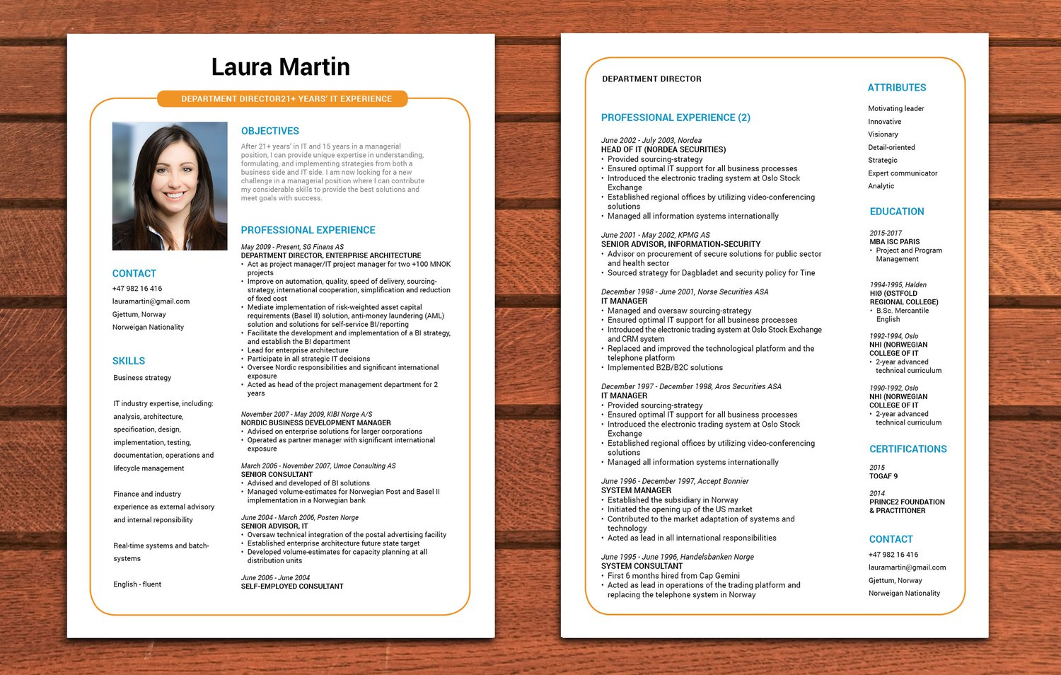 exemple de cv sur 2 pages CV sur 2 pages · myCVfactory exemple de cv sur 2 pages
