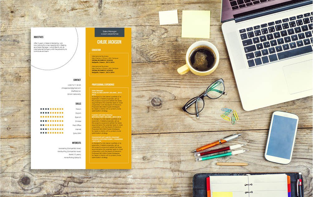 Create that winning professional profile with this Simple CV Template!