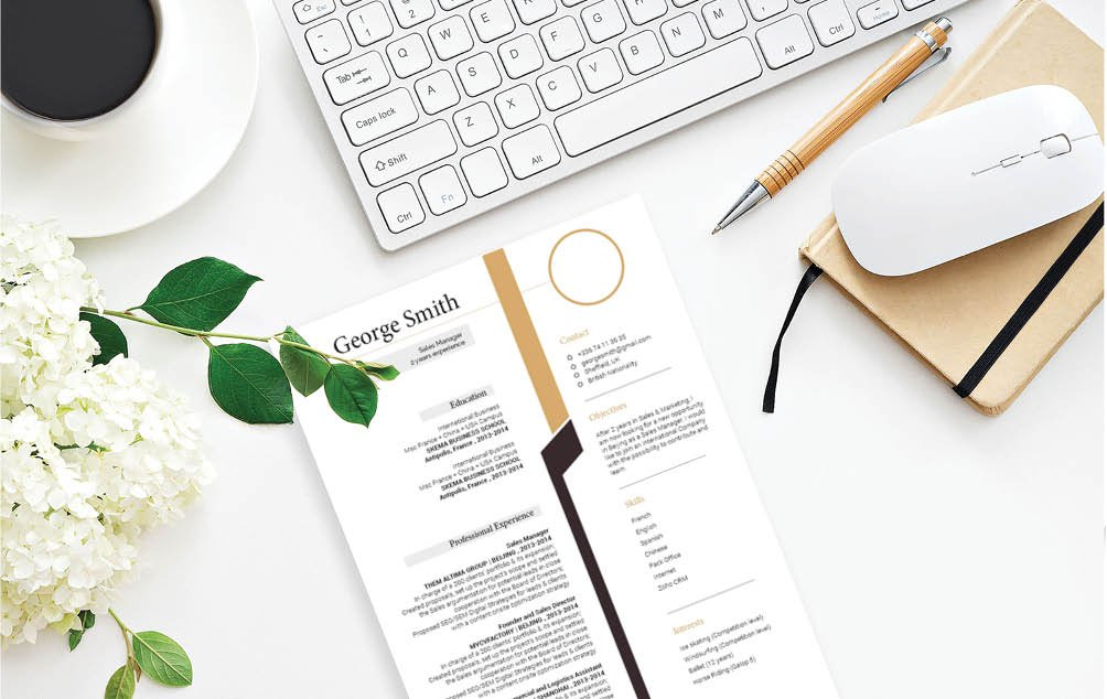 This is one modern cv format that  features a simple format perfect for professionals!