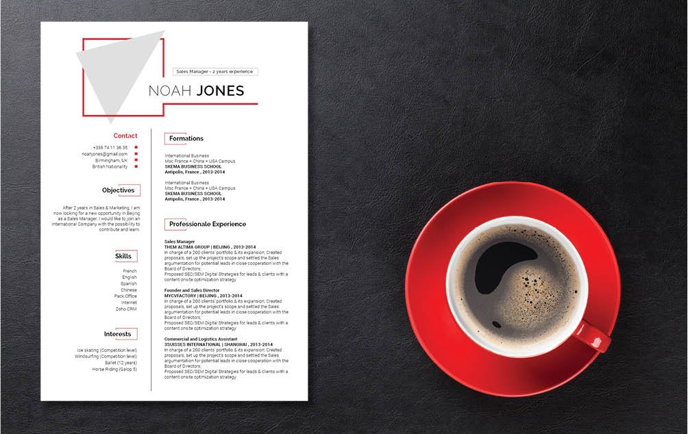 A great resume template for professionals of every industry!
