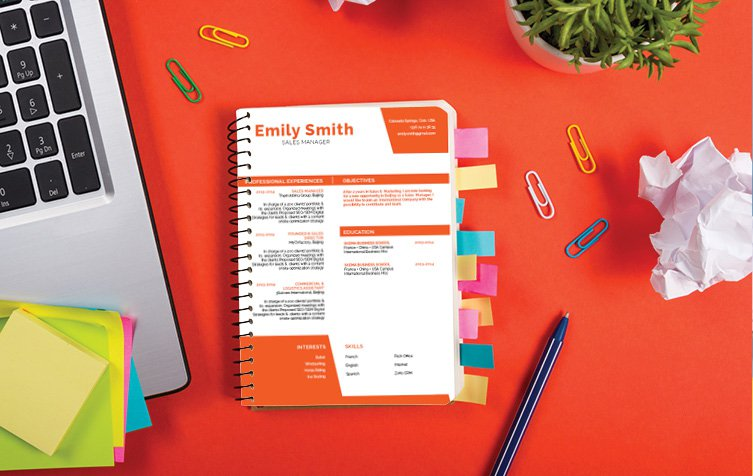 An original cv format with a modern twist to help you become a great professional!