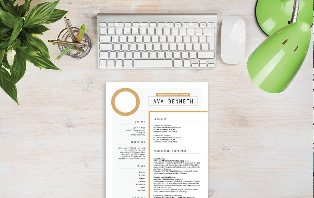This Simple resume Template will help you climb the ladder in your industry