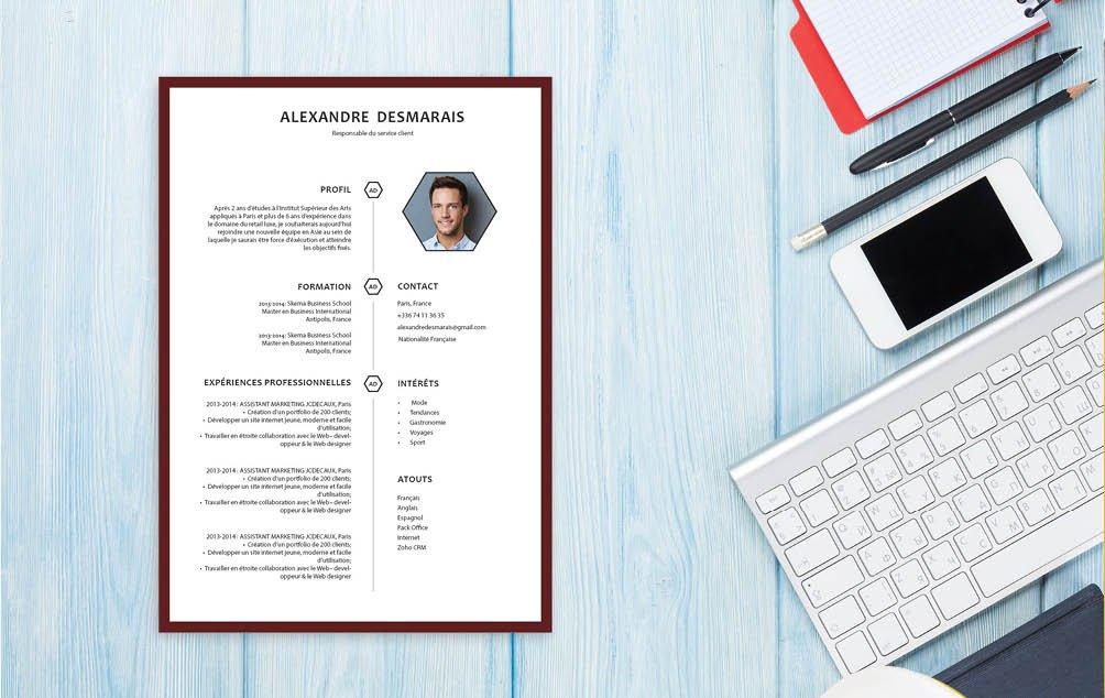 CV sobre et lisible, bonne présentation avec une légère touche de couleur