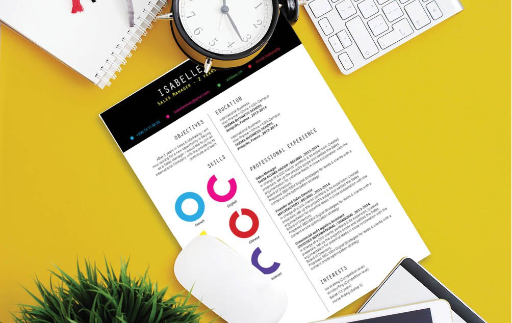 A design that simple puts a smile on your face -- definetely a functional cv format to work with!