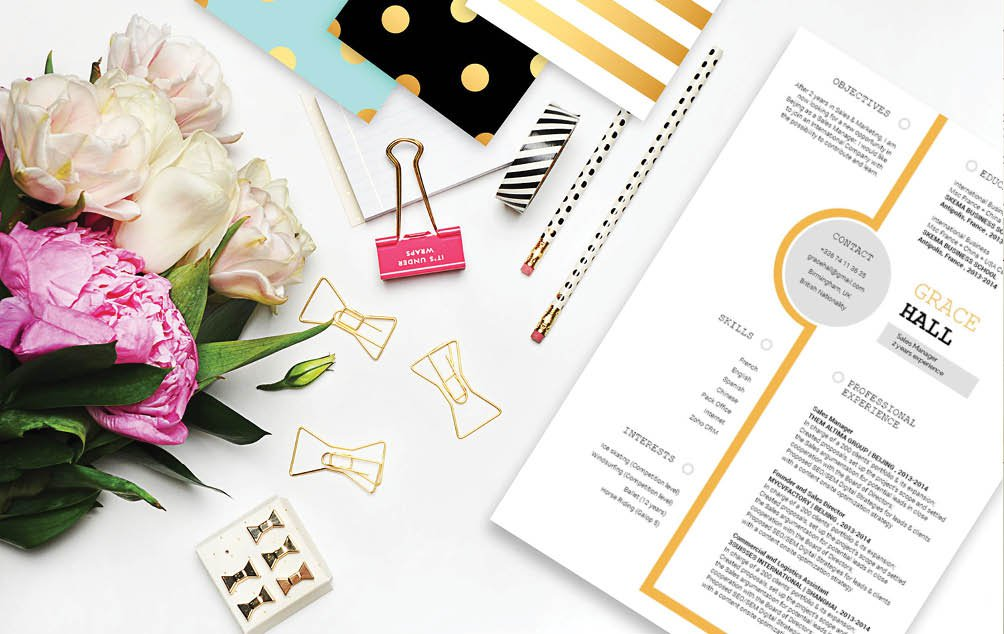 This CV template has all the building blocks of a great resume!