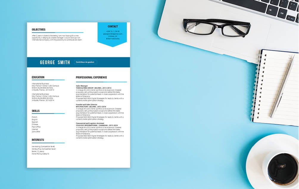Build the best cv format you can with this functional resume template!