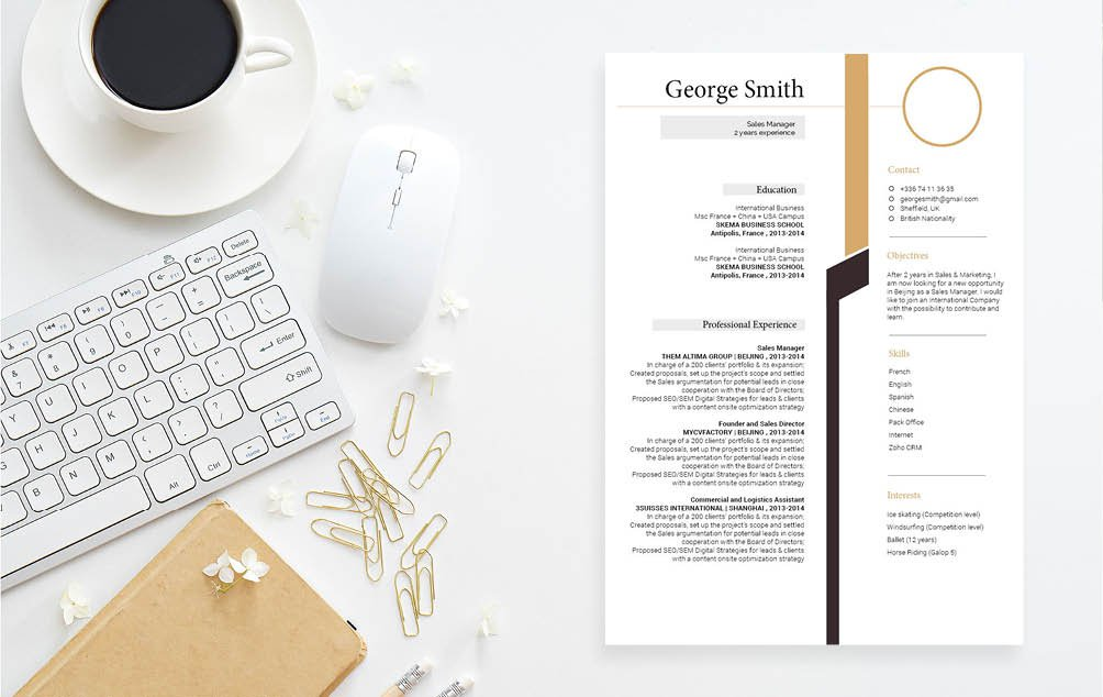 This modern cv format has a functional presentation of your best qualities!