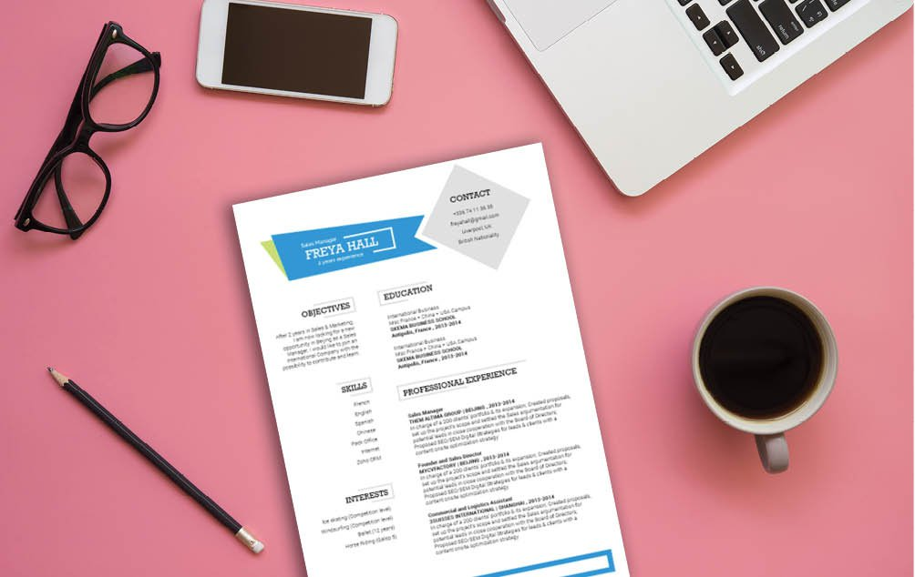 All the working parts fit perfectly in this great simple CV template