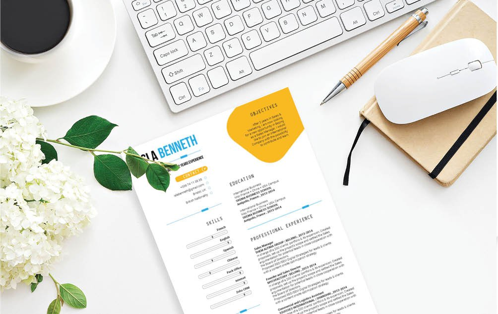The simple design makes this professional resume template and easy choice!