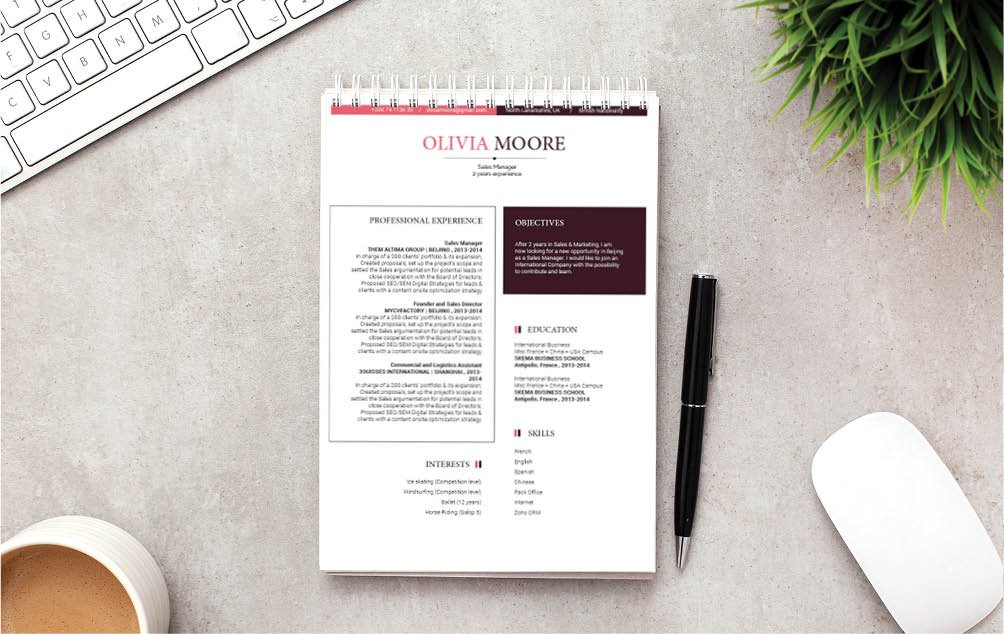 This simple CV Template has it all going on!