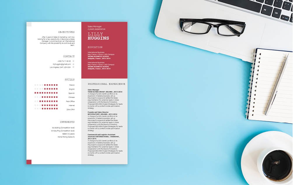 A terrific Modern CV template with an awesome design!