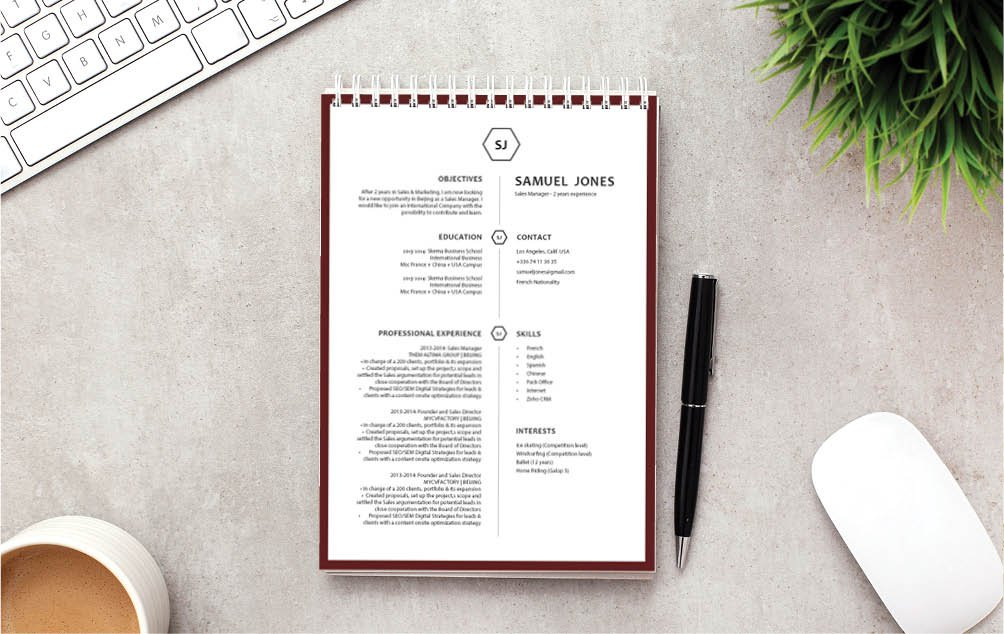 An impressive modern resume template with an equally functional design and format