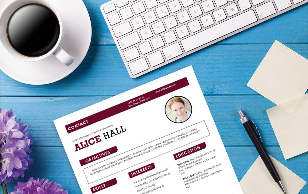 This Simple resume template features a clean and functional design perfect for all job types