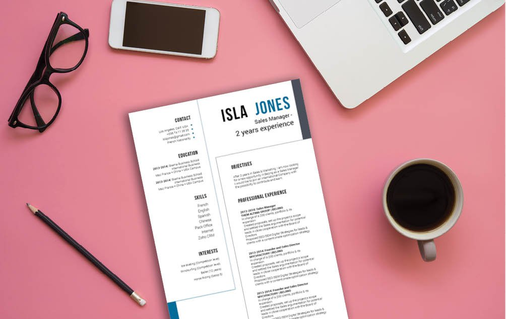 Grab the attetion of readers with this resume template and its excellent design choice
