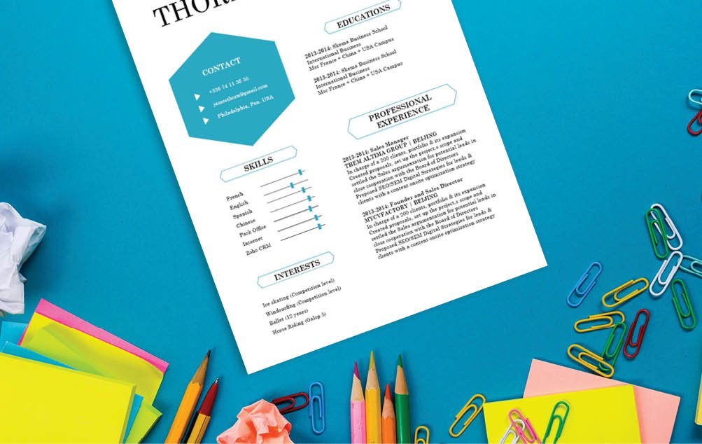 A Modern  CV template to jump start your great career